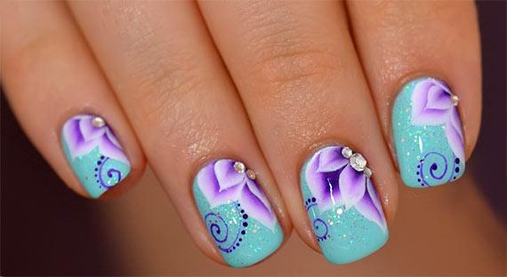 шеллак на короткие ногти с рисунком фото