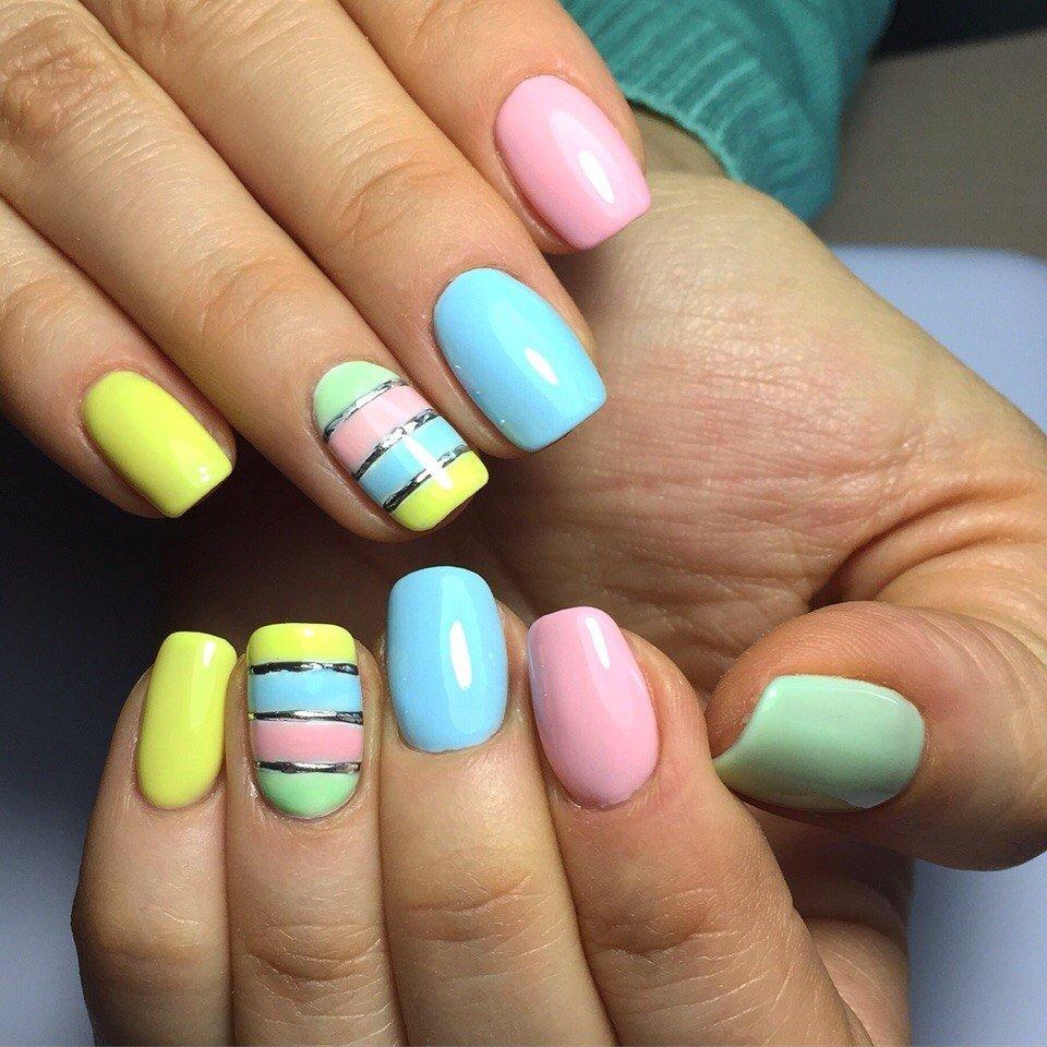 372Маникюр дизайн ногтей летний
