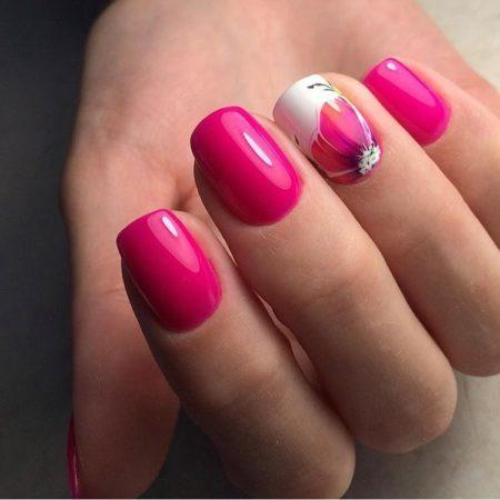 Дизайн коротких ногтей 20 фото