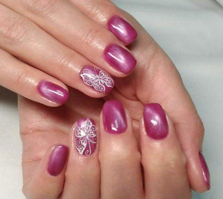 Идея красивого маникюра для коротких ногтей