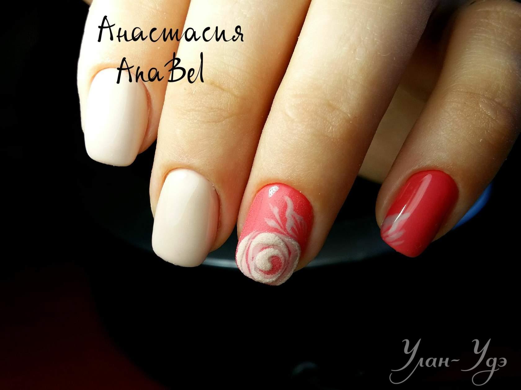 Маникюр для коротких ногтей фото бархатные
