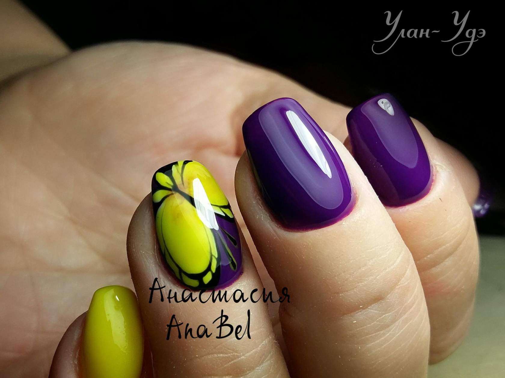 дизайн ногтей косичка
