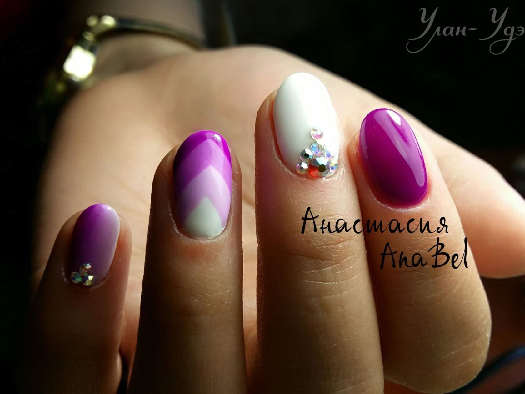 Дизайн ногтей вечерний вариант