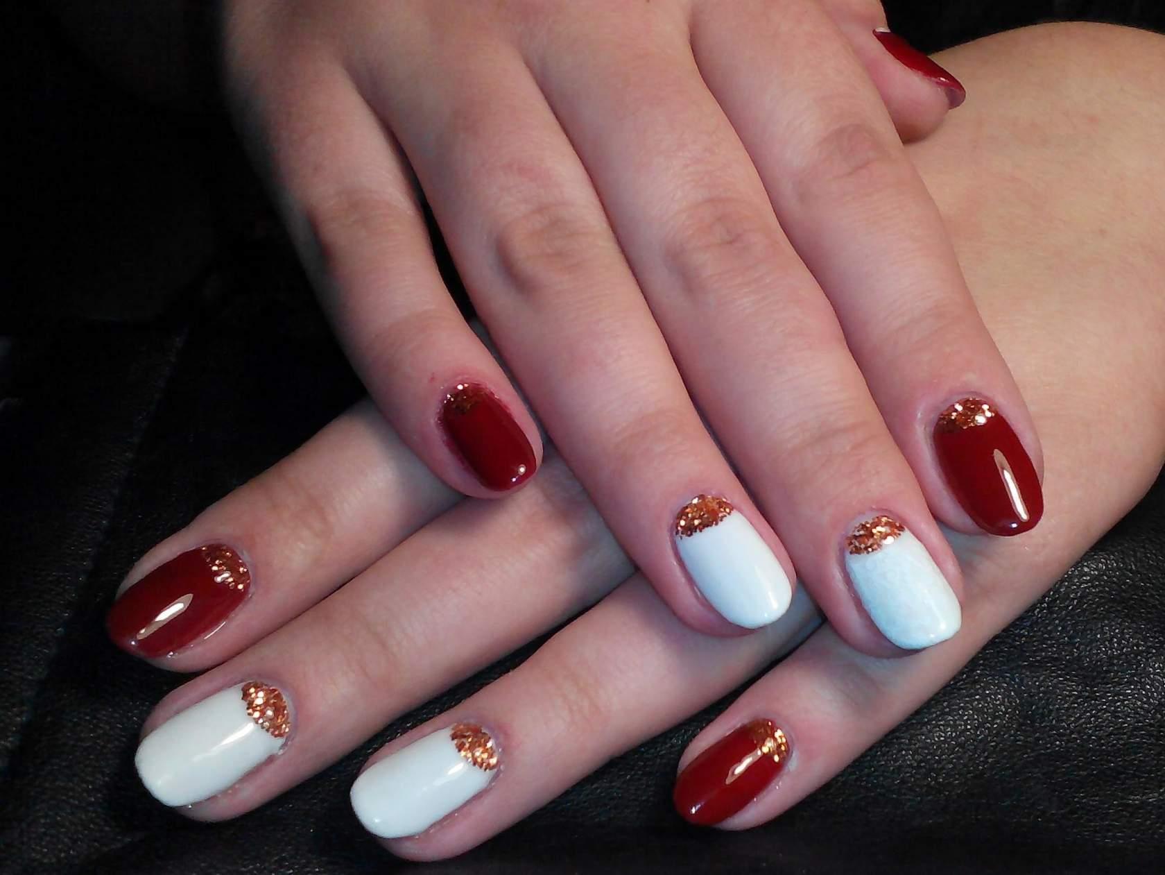 Литье на ногтях на гель лак фото