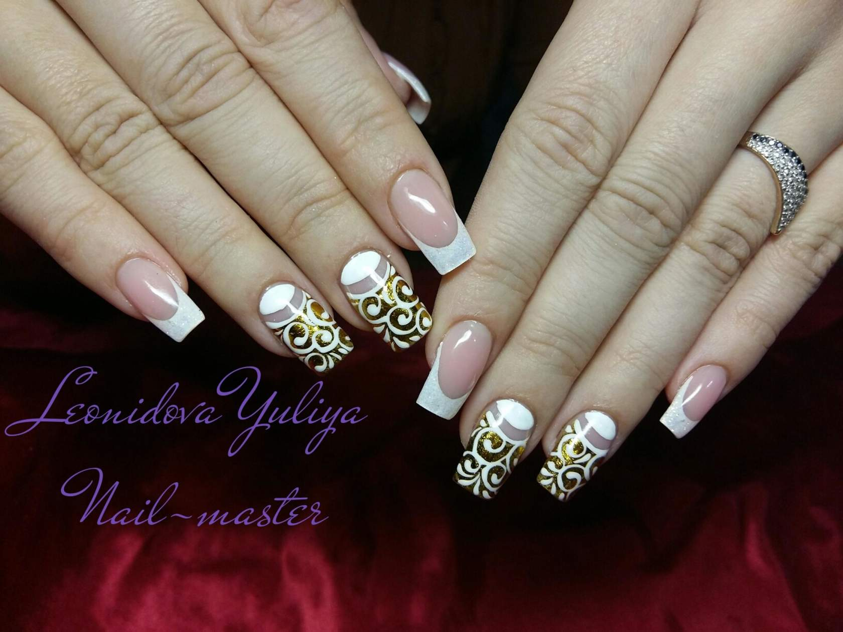 Литье на ногтях фото цветы