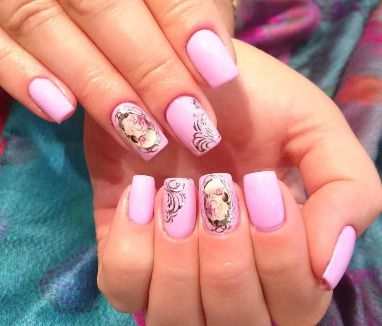 Ногти розово белые дизайн фото
