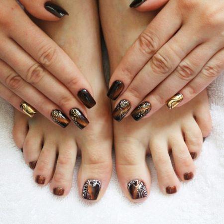 Литьё — дизайн ногтей 101 фото