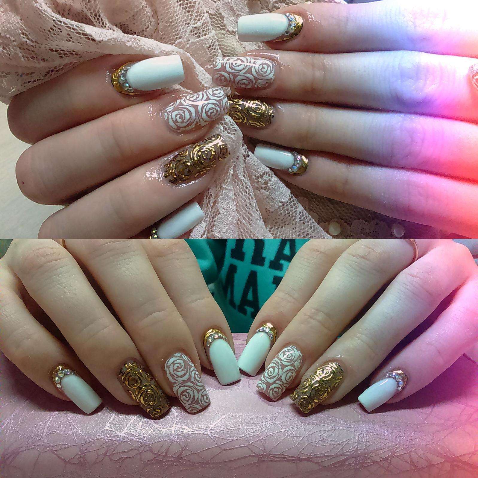 Дизайн ногтей с блестками LS