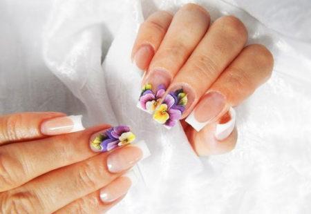 Френч-фото оригинального дизайна ногтей