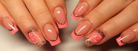 Нежный дизайн ногтей весна - лето