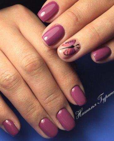 гель -лак с дизайн ногтей весна - лето