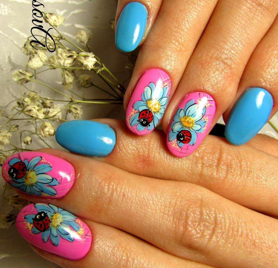 Дизайн ногтей весна лето. 82 фото маникюра. -Фото дизайна 37