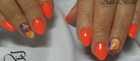 Дизайн ногтей гель - лак на коротких ногтях весна - лето