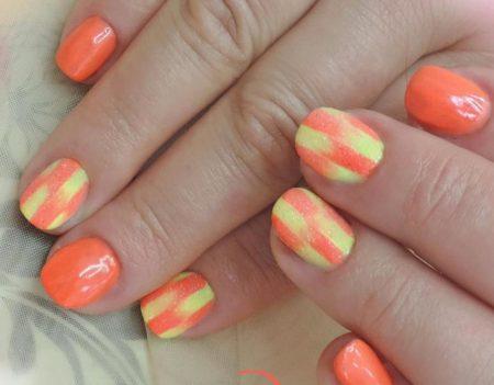 Дизайн ногтей гель -лак на натуральные ногти весна - лето