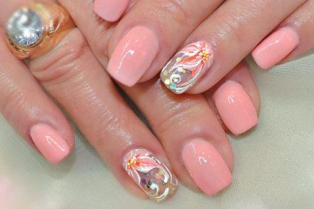 Дизайн розовых ногтей весна - лето