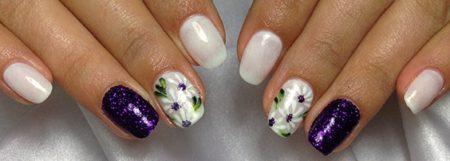 Модный маникюр на короткие квадратные ногти