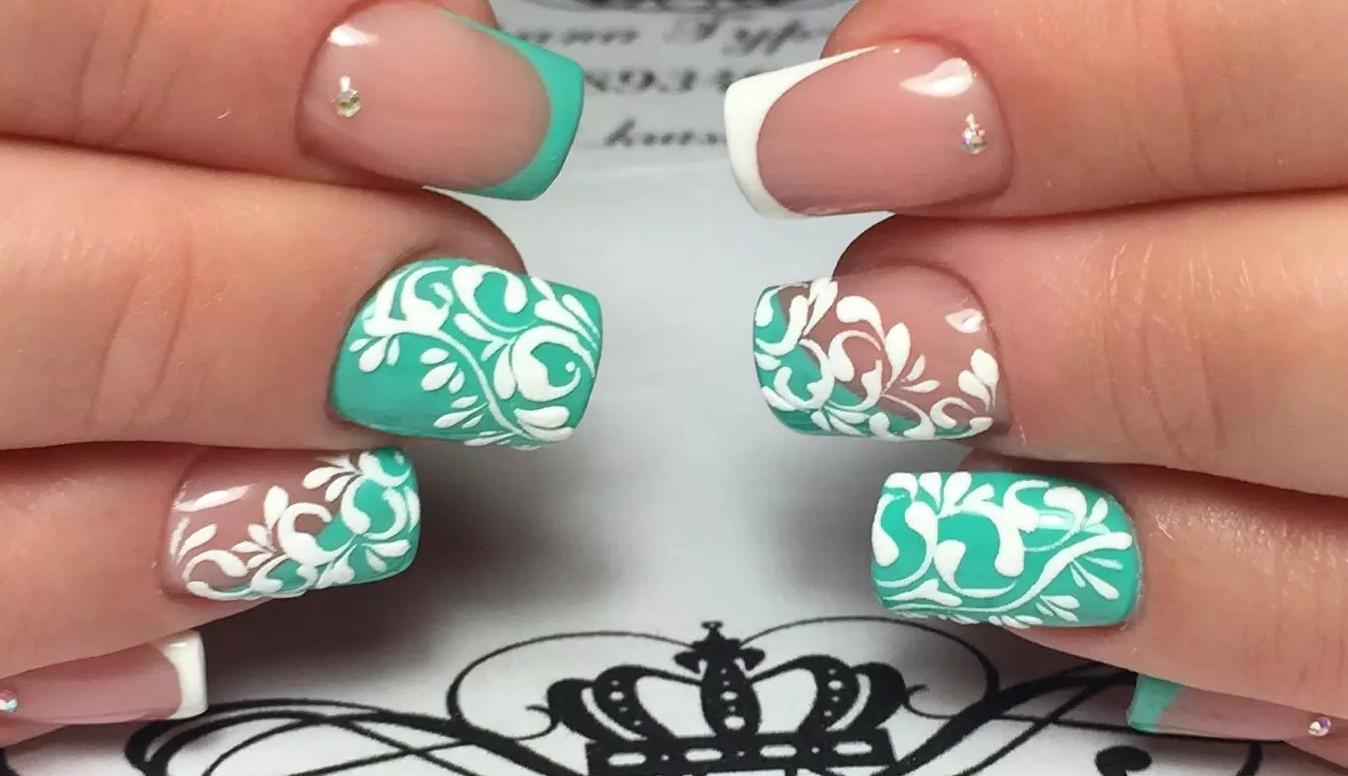 фото квадратных ногтей с рисунками