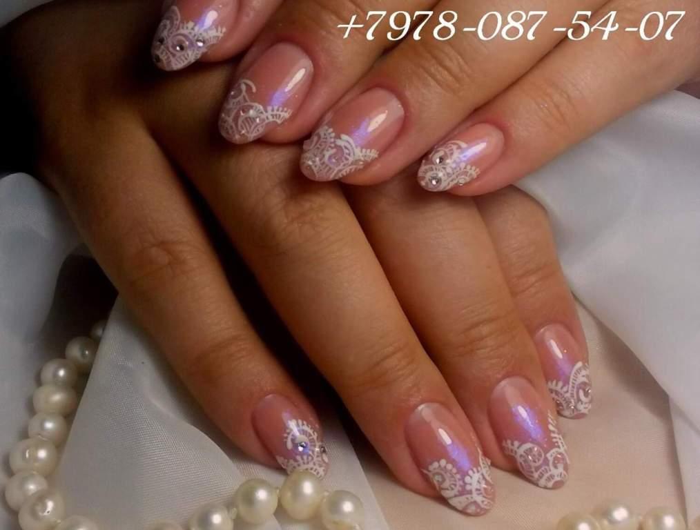 Френч на ногтях золото и серебро 85
