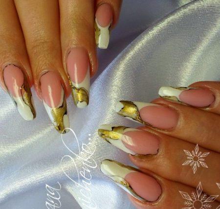 Дизайн модного маникюра на длинные ногти