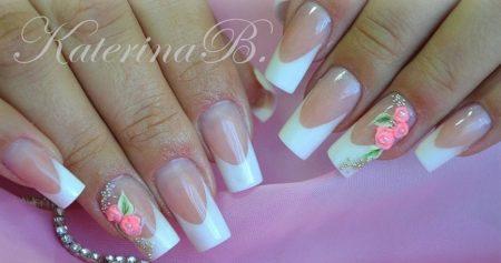 Модный дизайн ногтей фото свадебного маникюра