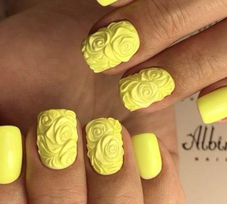 Модный дизайн ногтей фото объемного маникюра