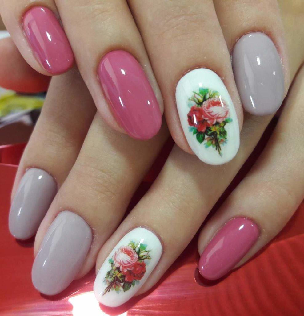 Модный дизайн ногтей короткие ногти