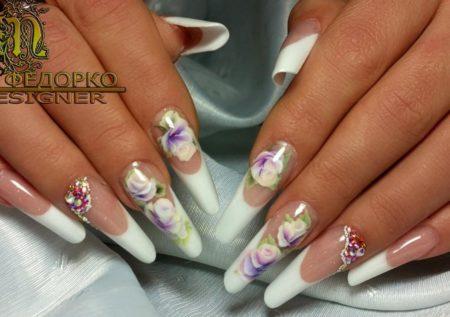 Дизайн ногтей свадебного маникюра