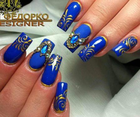 Дизайн ногтей срисунком