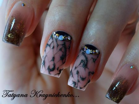 Дизайн ногтей с росписью – фото идеи красивого маникюра