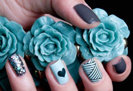 Фотодизайн ногтей гель-лаком, модный маникюр.