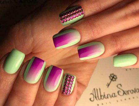 Гель-лак ногти- Фото модного маникюра с дизайном