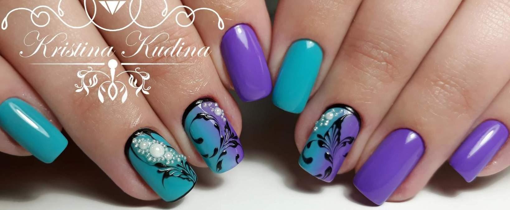 Рисунки на ногтях градиент фото гель лак