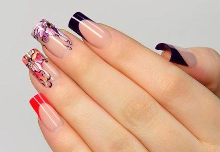 Красивый дизайн ногтей — 25 фото идей модного маникюра с дизайном.