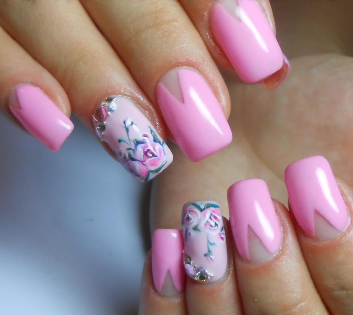 Дизайн ногтей весна лето. 82 фото маникюра. -Фото дизайна 90