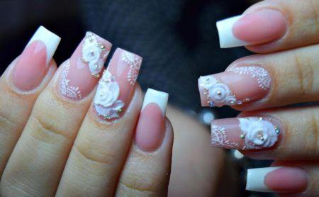 Ногти фото свадебного маникюра