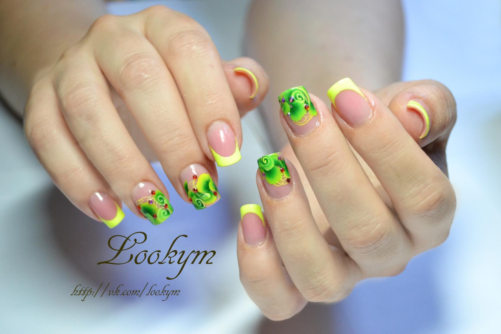 Красивые идеи френча для маникюра Нарощенные ногти френч: 15 фото красивого маникюра