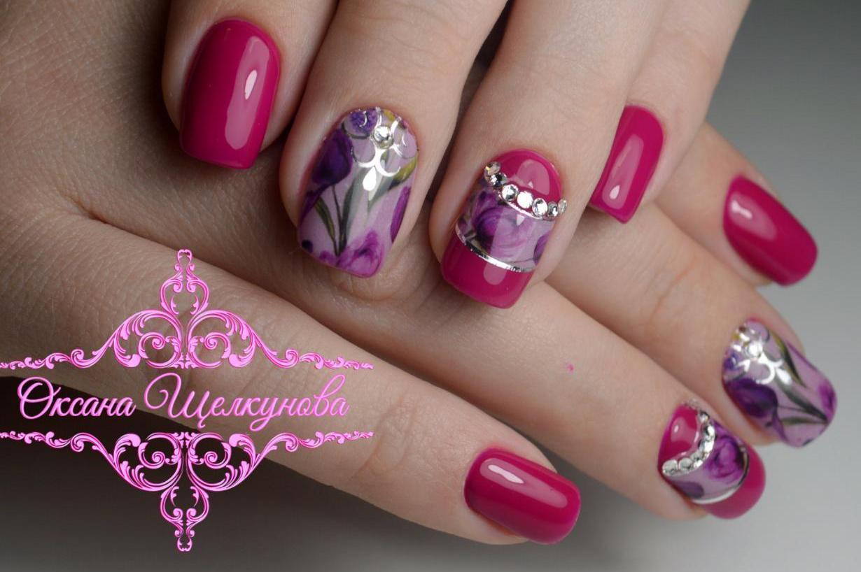 Красивые ногти дизайн гель 4