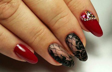 Маникюр с рисунком на ногтях фото