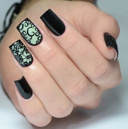 Маникюр с рисунком на ногтях – Красивый фотодизайн.