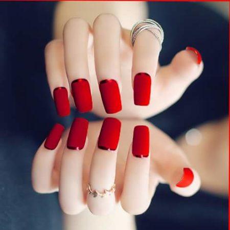 Красный модный маникюр лето 2017