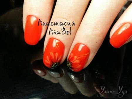 Ногти фото дизайн с цветами