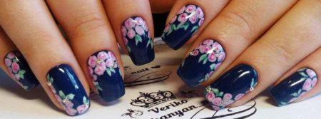 Маникюр весна - лето идеи дизайна с цветами