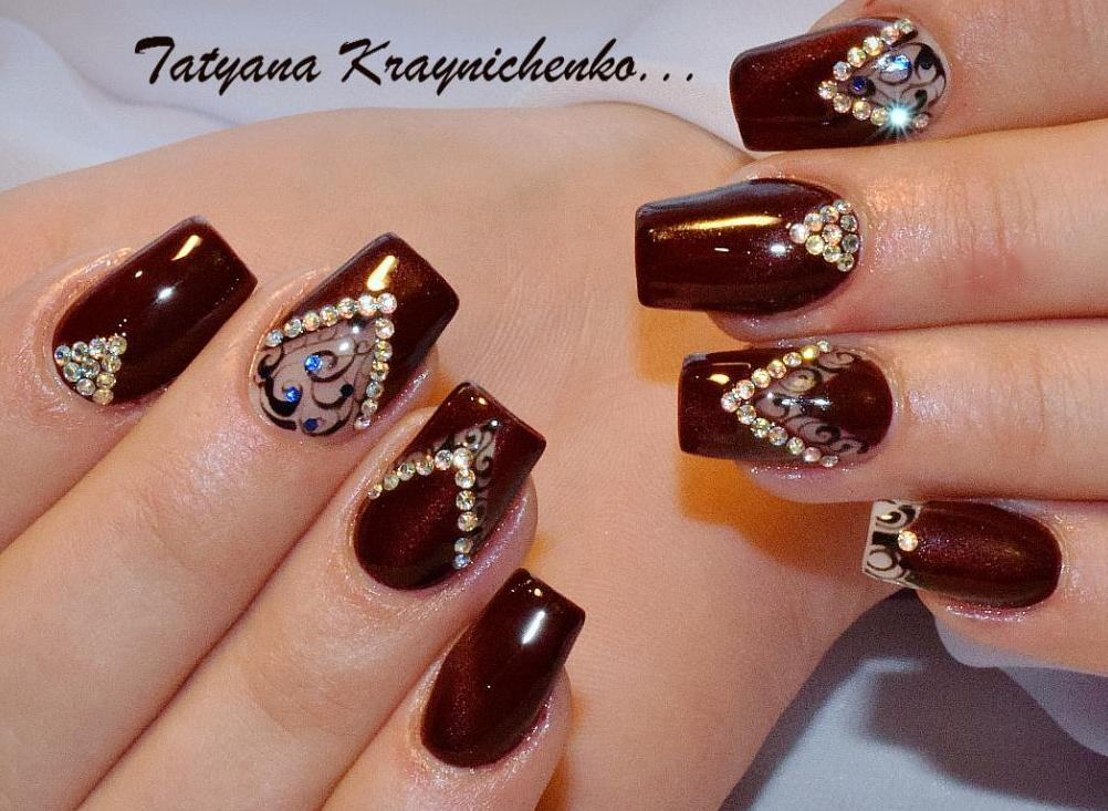 фото дизайн ногтей вечерний