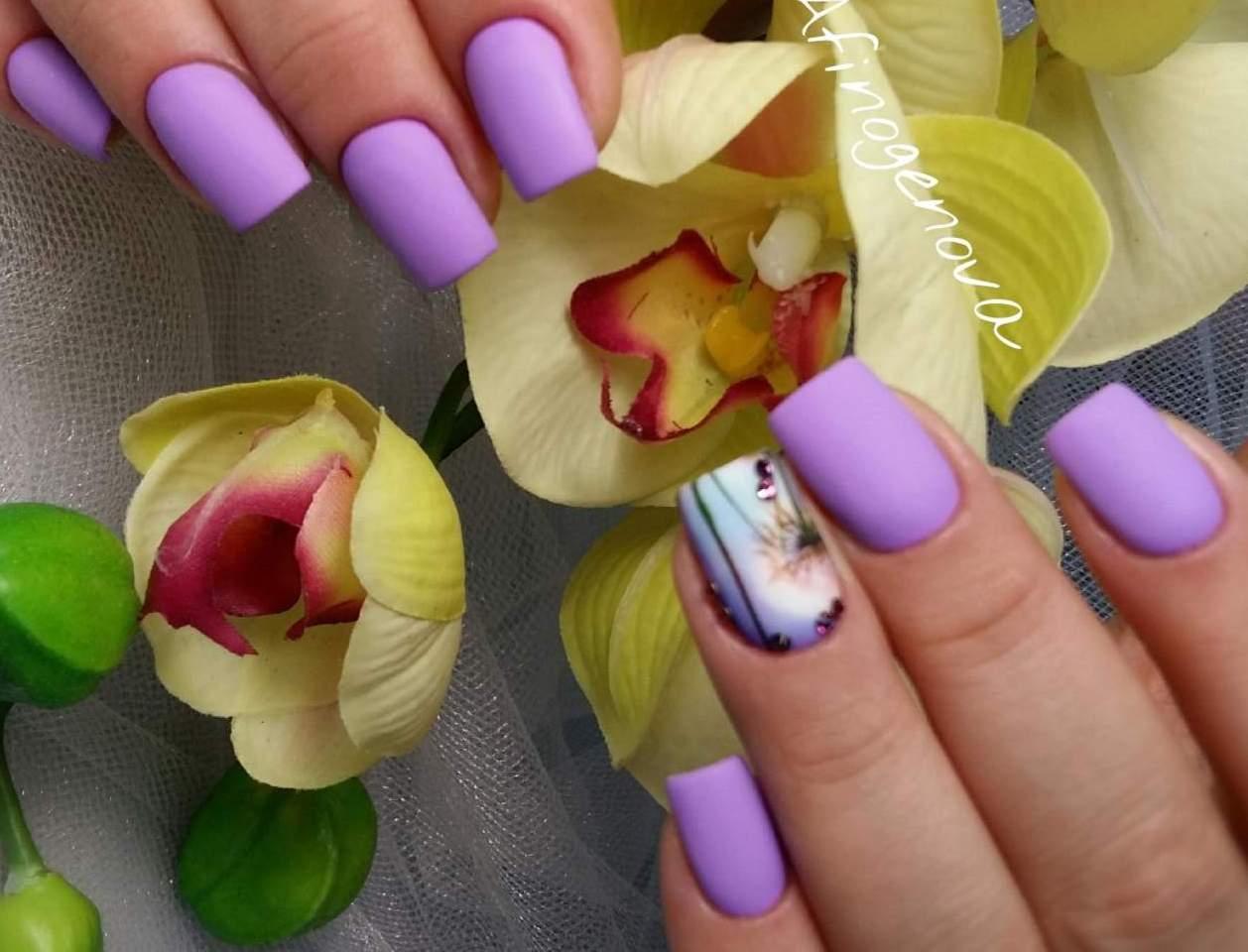 Ногти рисунки тюльпанов фото и