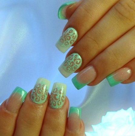Колорит оттенков – фото-идеи модного дизайна ногтей цветного френча.