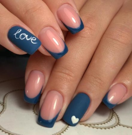 Фото-идеи матового модного дизайна ногтей цветного френча.