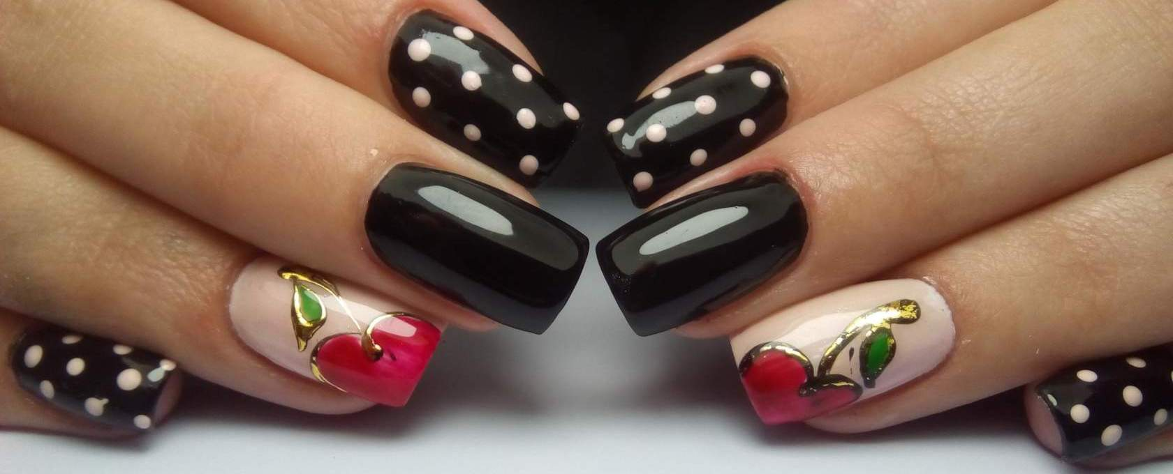 Дизайн ногтей и вишенками фото