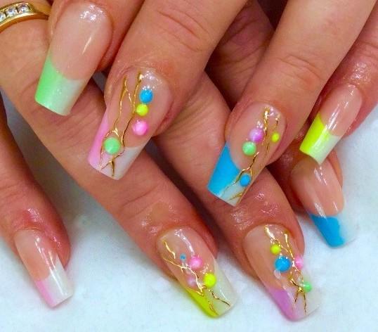 Фото ногтей с рисунками френч лето