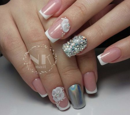 Фото ногтей свадебного маникюра