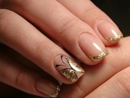 Дизайн ногтей бабочки фото красивого маникюра